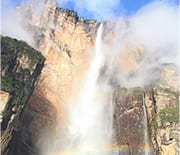 Angel Falls, cascades into the jungle below