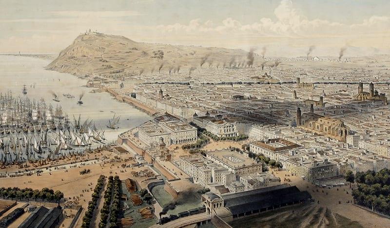 Vista de Pla de Palau. Imagen: Guesdon, 1854