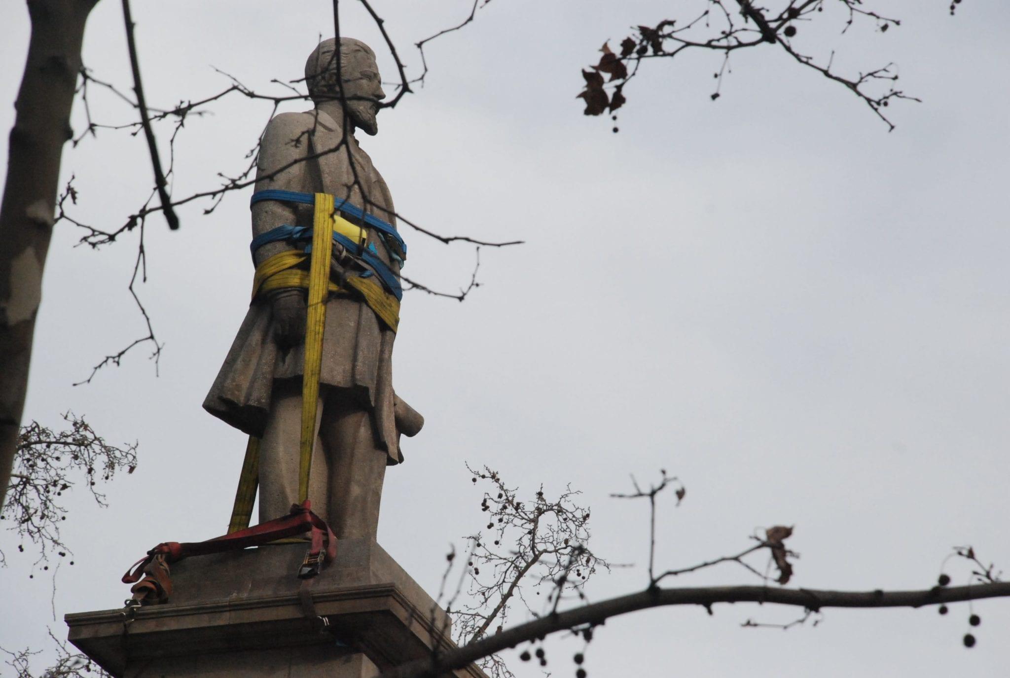 Listo para ser bajado del pedestal. Foto: Aymara Arreaza R.